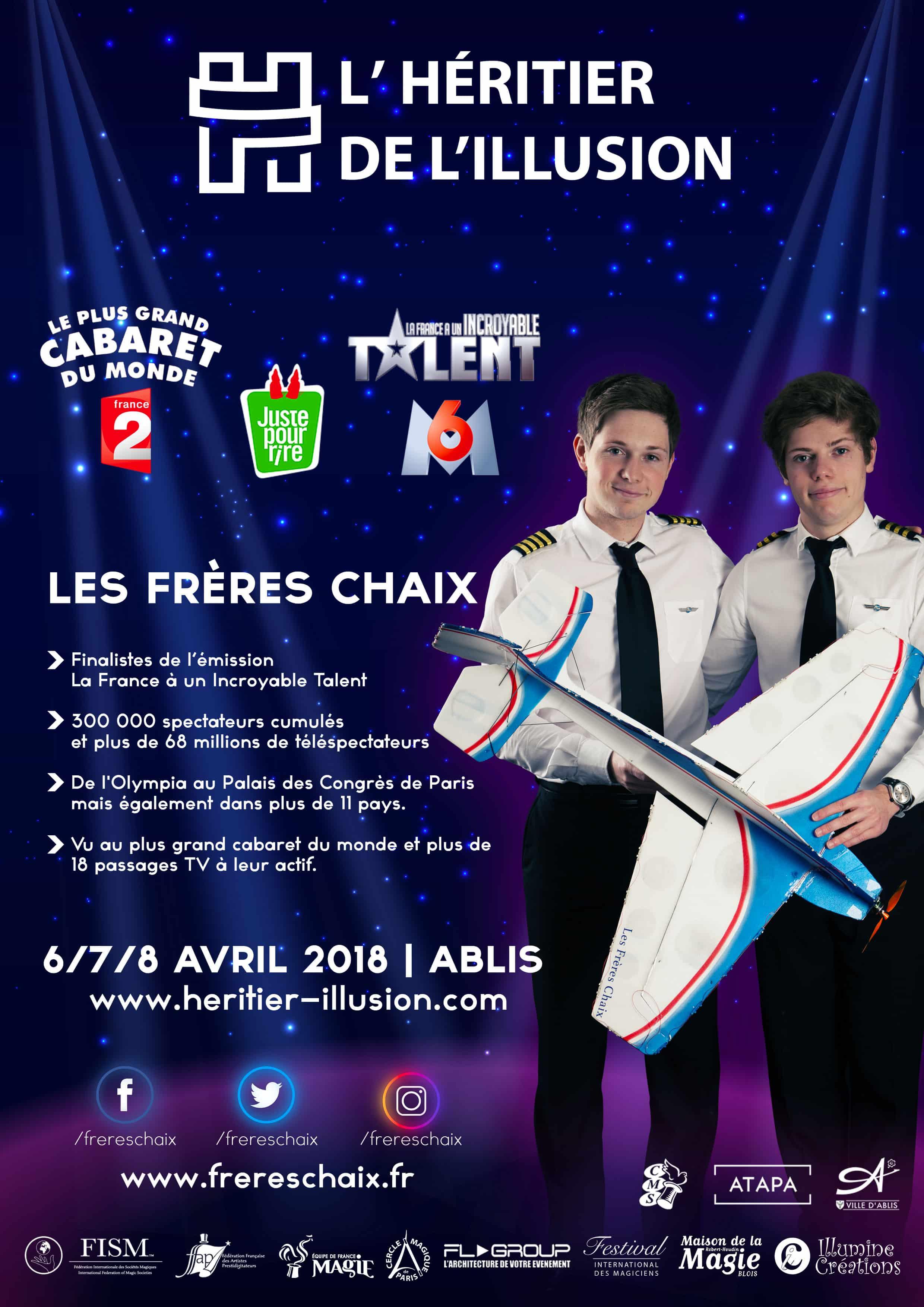 Les Frères Chaix au festival de l'Héritier de l'Illusion | Photo © : Les Frères Chaix
