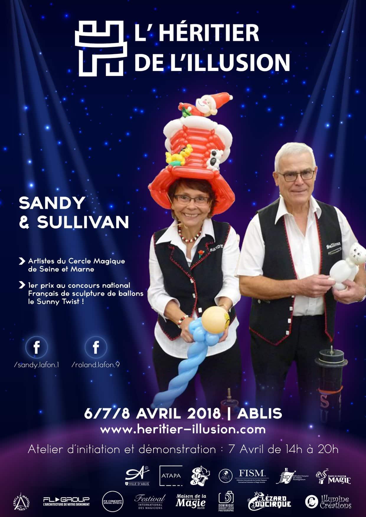Affiche Héritier de l'Illusion Sandy et Sullivan Ballon
