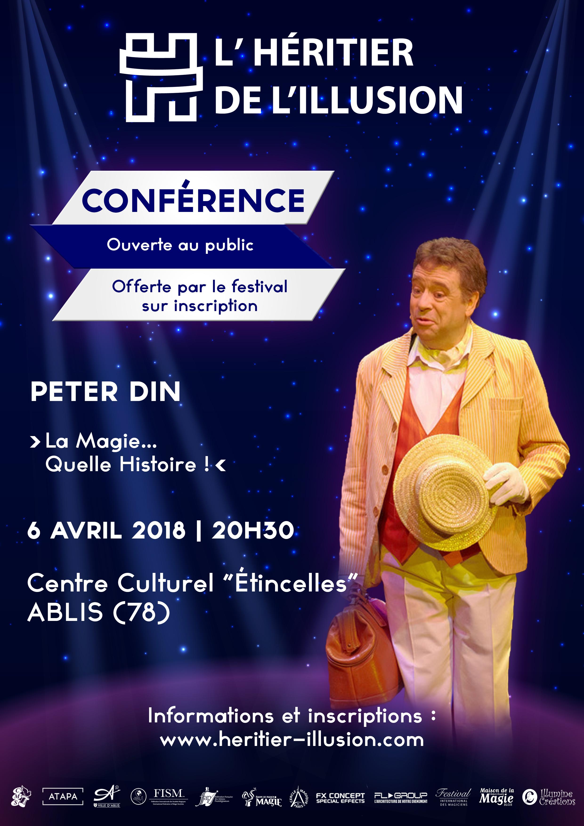 Conférence La Magie Quelle Histoire de Peter Din - L'Héritier de l'Illusion