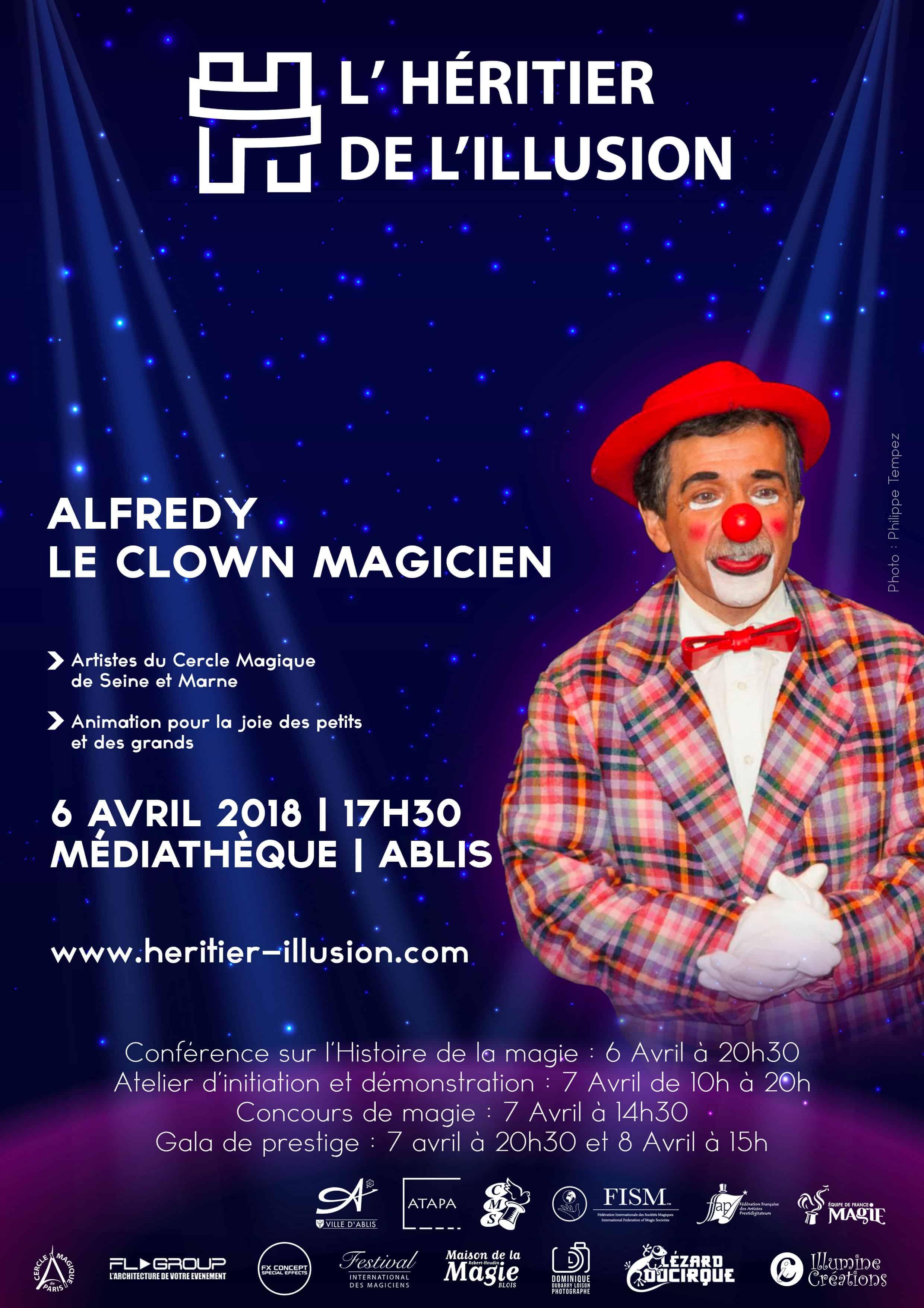spectacle et animation clown Alfredy le clown