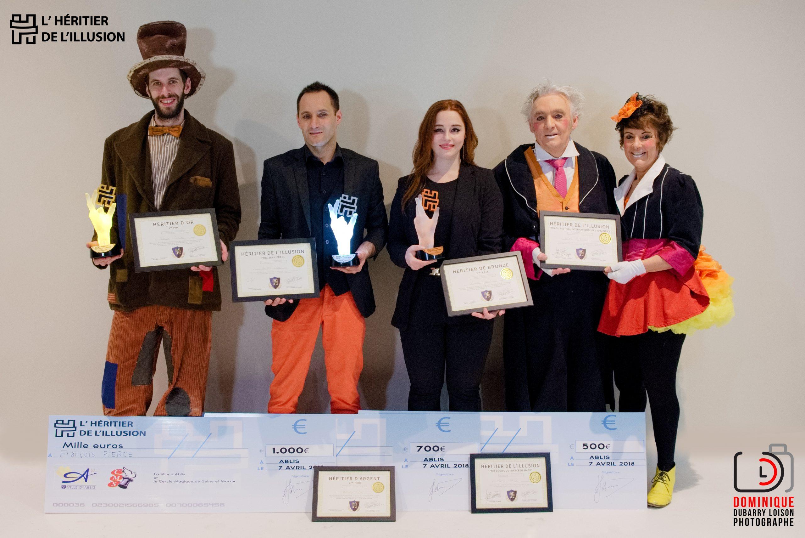 lauréats resultats concours heritier illusion