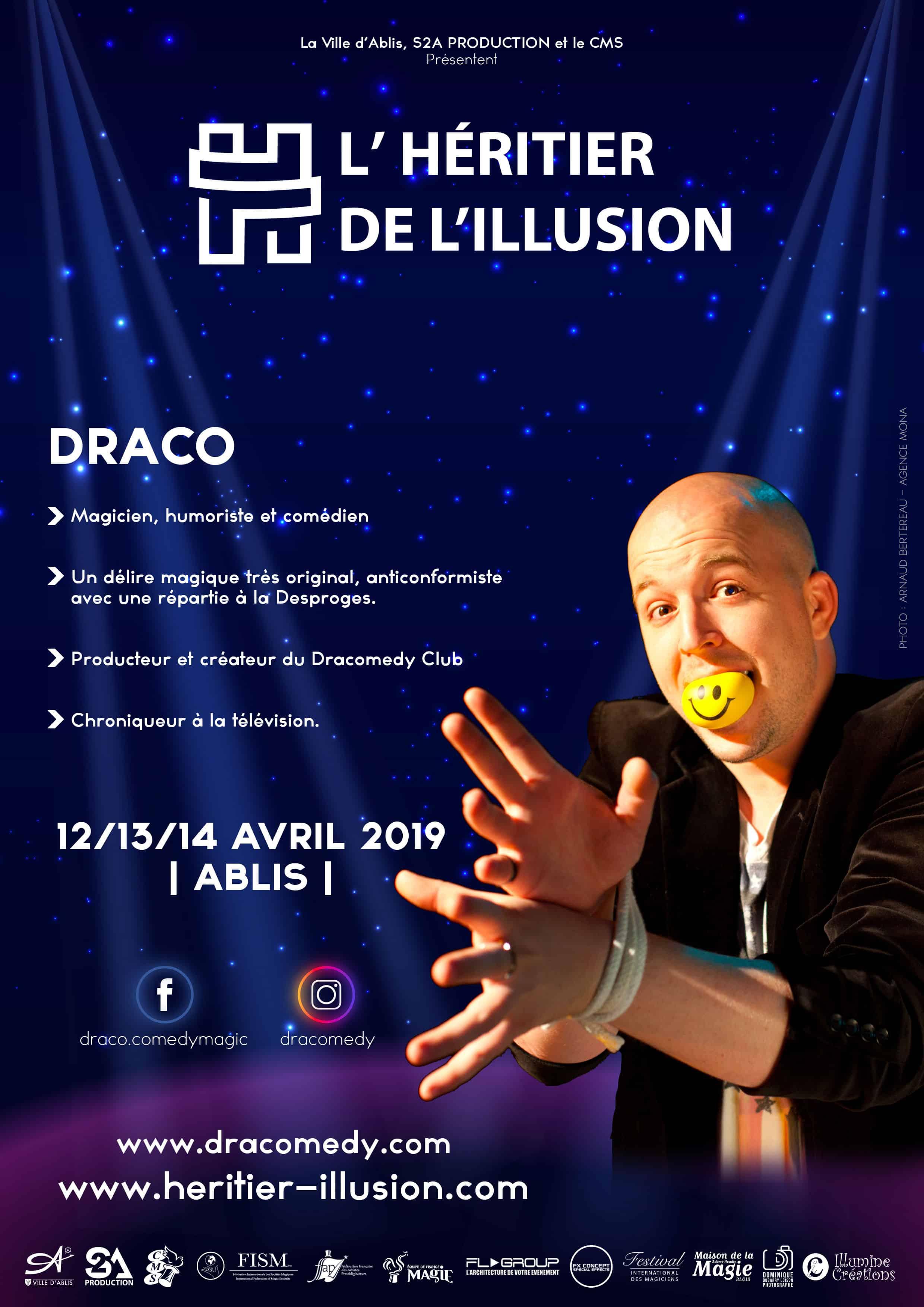 Draco Magicien humoriste à Rouen - PHOTO : ARNAUD BERTEREAU - AGENCE MONA