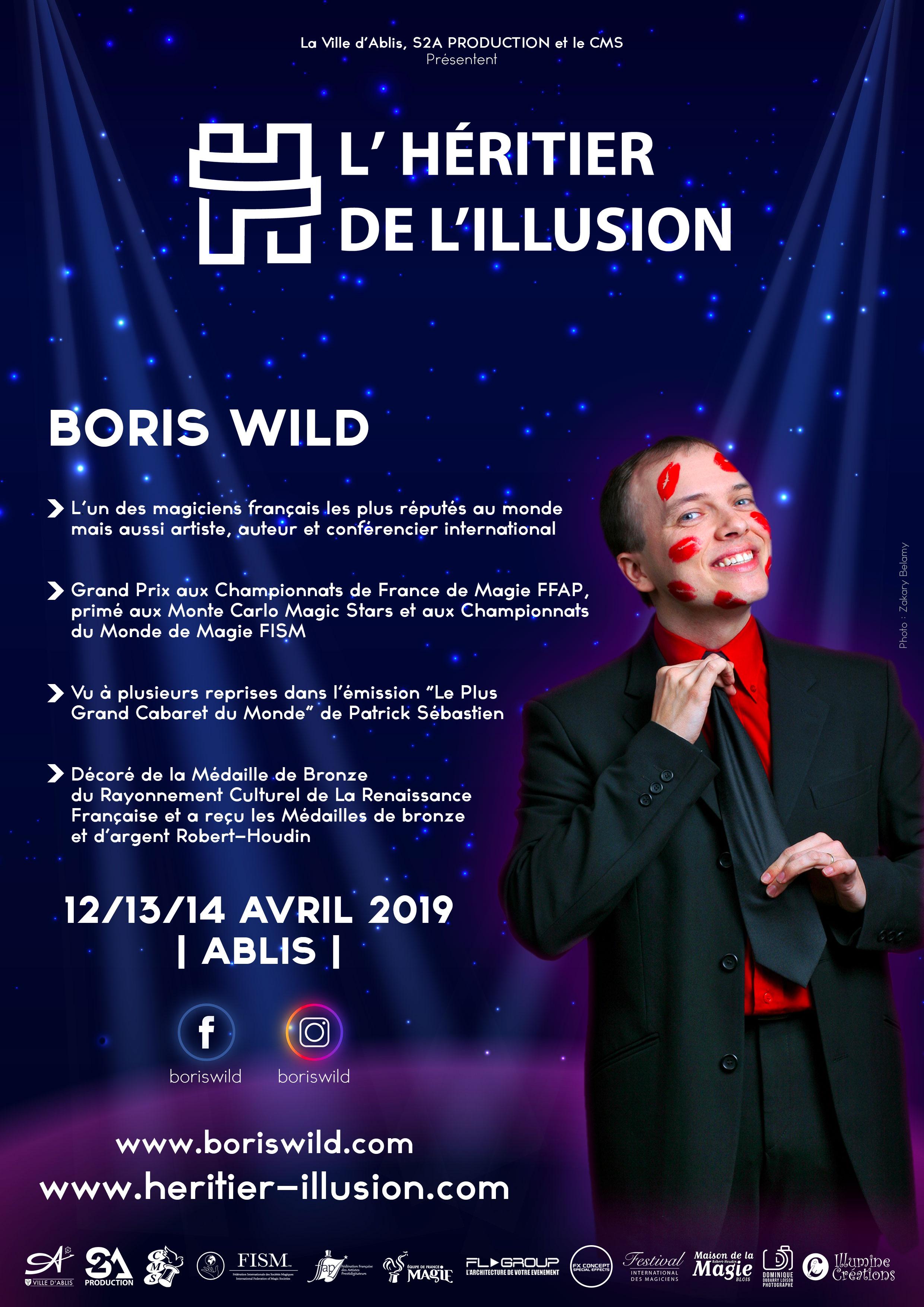Boris Wild Magicien Paris - PHOTO : Zakary Belamy