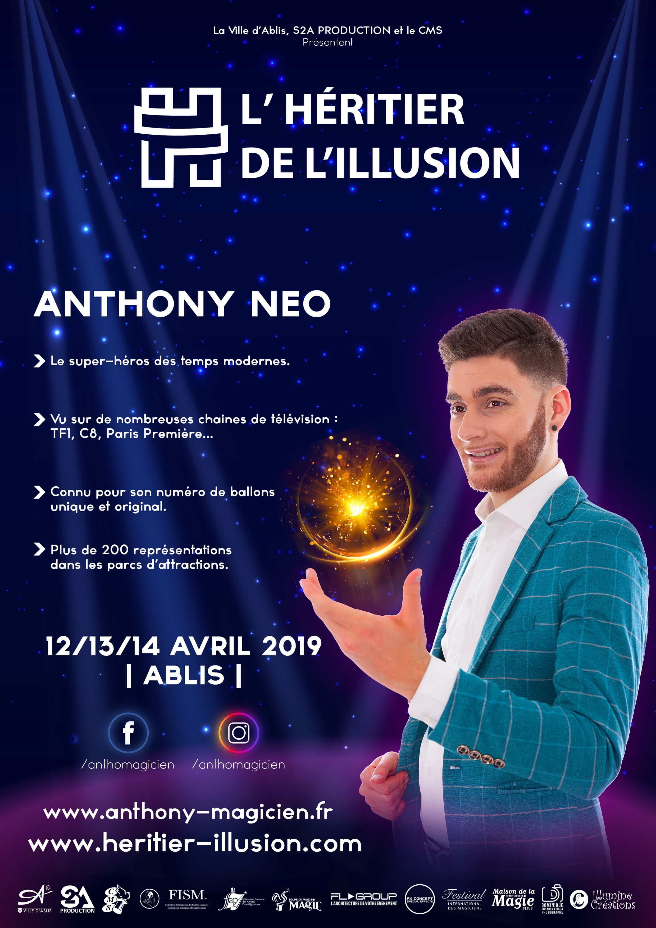 Affiche Anthony NEO Magicien Orleans