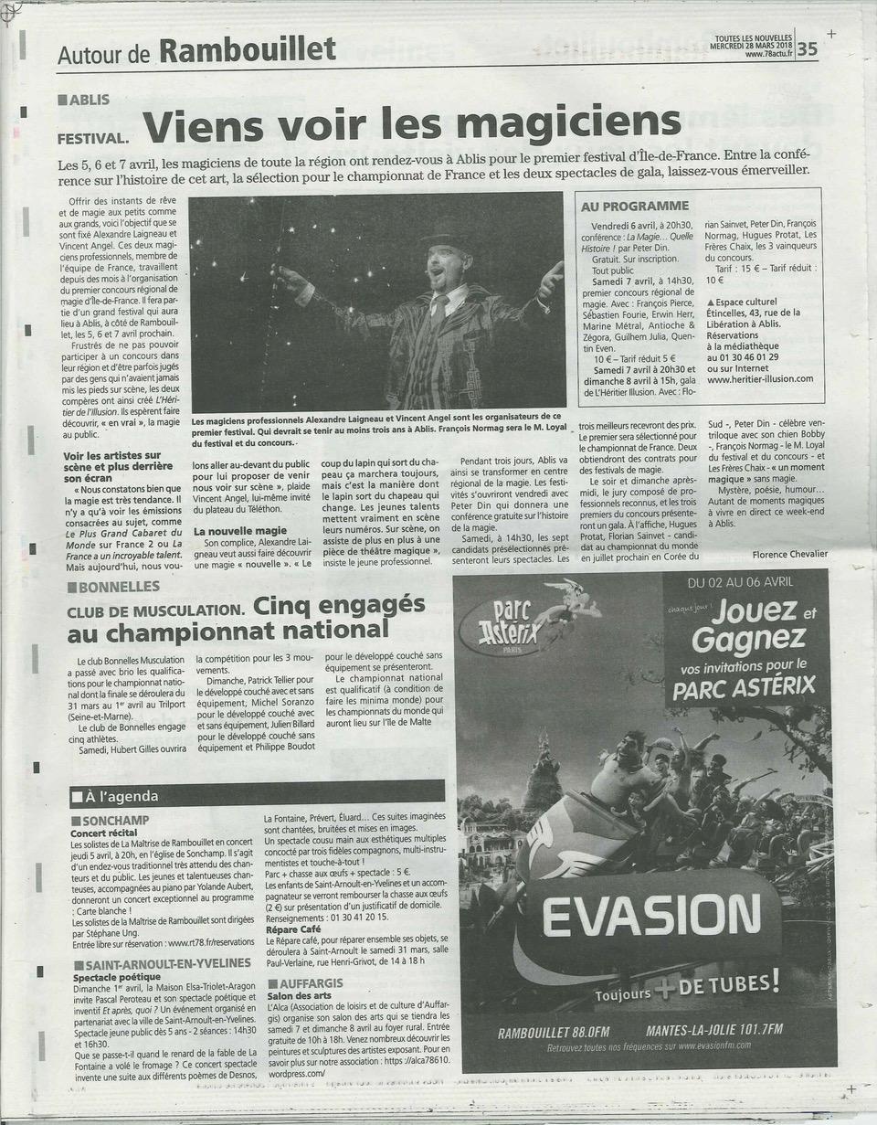 Retour Presse Heritier 2018 - Les nouvelles de rambouillet