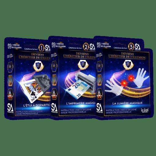 Pack 3 coffrets de magie