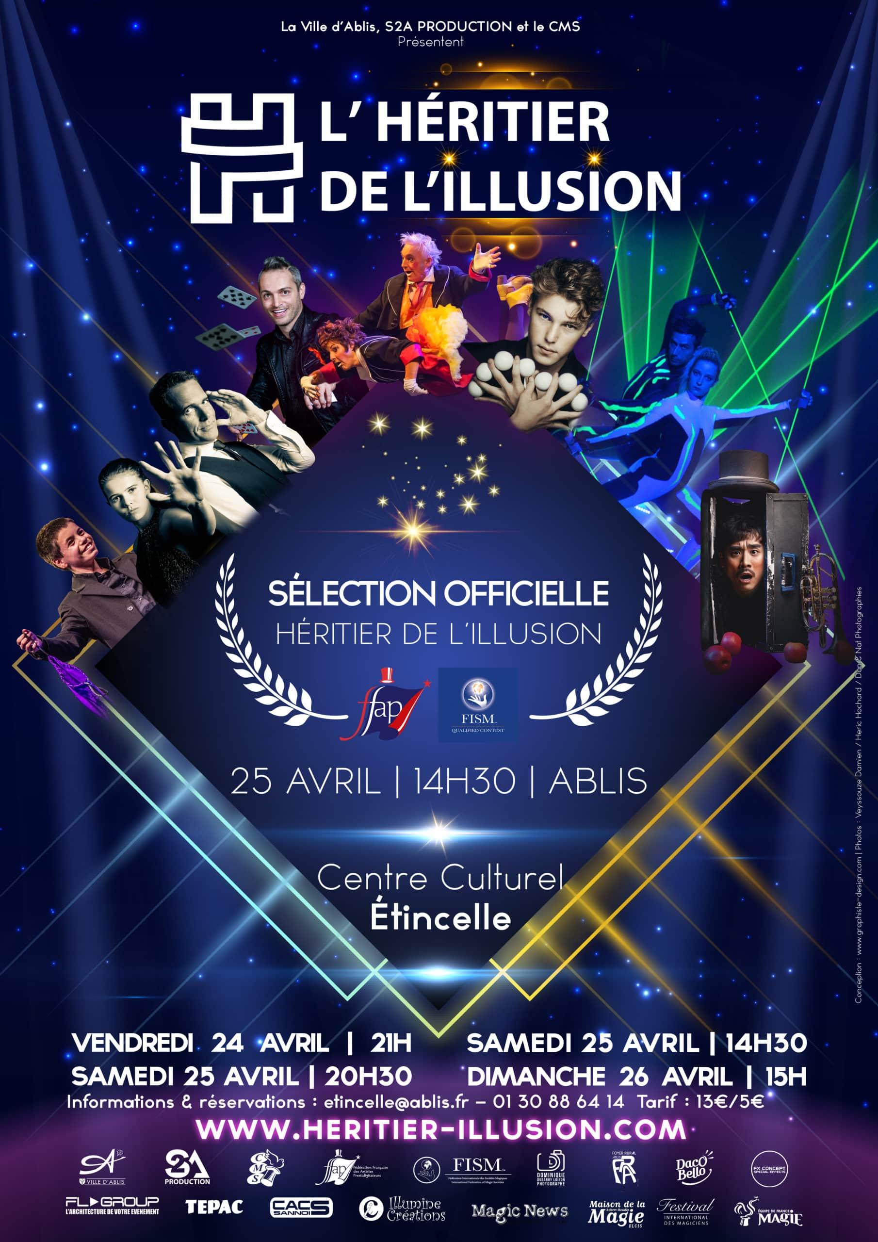 Programme Concours de magie FFAP Paris Île de France