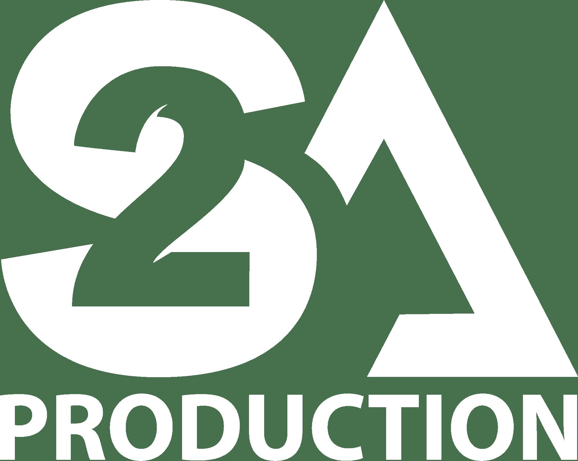 logo S2A Production Blanc